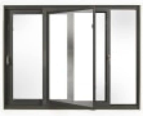 חלון בלגי הזזה עם פתיחה לניקוי